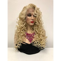 sale Blonde Swiss lace front wig| 13x6 Multi parting | Dolly Parton Costume Wig | 918 22 Receive Love