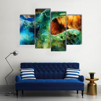 Phoenix Bird Collage Multi Panel Canvas Wall Art