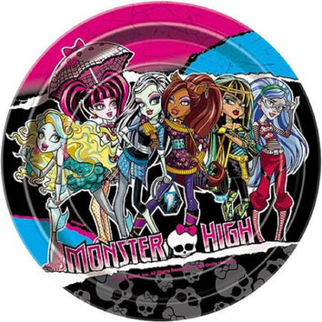 "7"" Monster High Party Plates, 8ct"