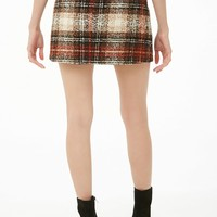Plaid Boucle Mini Skirt