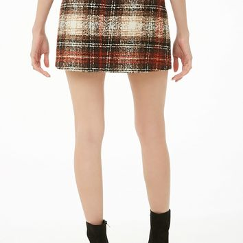 3004a75a89 Forever 21 $19.90. Plaid Boucle Mini Skirt