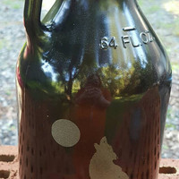 Laser Engraved Amber Growler 64 oz ~ Custom ~ Beer Growler ~ Gifts for Him ~ Gifts for Her