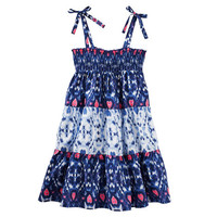 Smocked Tiered Dress