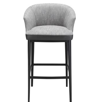 Beckett Bar Stool Grey Fabric