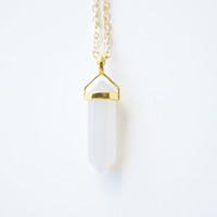 White Jade pendant and chain