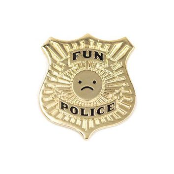 Fun Police Badge Pin