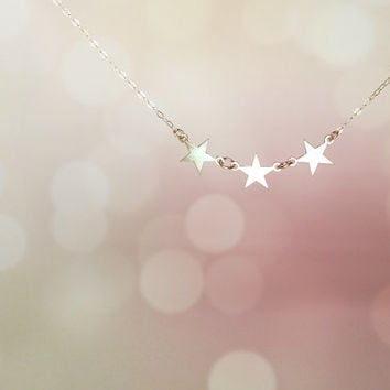 Best friend necklace stars