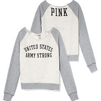 Army Slouchy Crew - PINK - Victoria's Secret
