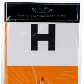 Happy Halloween Letter Banner 10'-18 Pieces W/Twine