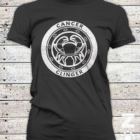 CANCER / Zodiac / Astrology  / Dark Side / Ladies Graphic Tee Shirt