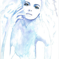 Original Watercolor & Ink Painting by EstherBayer on Etsy