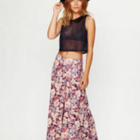 Free People Floral Drapey Wideleg Pants at Free People Clothing Boutique