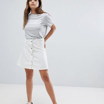 Noisy May Button Up Front Skirt at asos.com