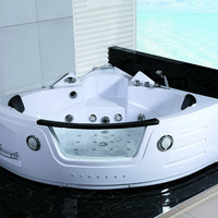 2 Person Hydrotherapy Computerized Massage Indoor Whirlpool Jetted Bathtub Hot Tub