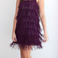 Purple Fringe Dress