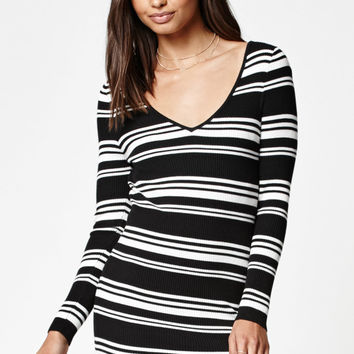 Kendall and Kylie Double V Sweater Dress at PacSun.com