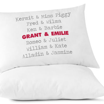 Custom Printed Personalized Famous Couples Pillowcases - Set of 2