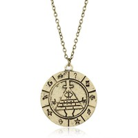 Vintage Jewelry Grotesque Town Gravity Falls Bill Pendant Necklace Mystreious Town Adventure Neckalce