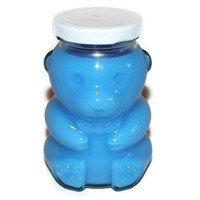 Teddy Bear Candle Blue Scented with Baby