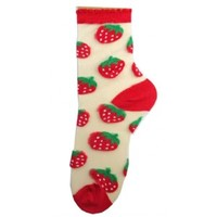 Hollywood Mirror | SEE THROUGH CREW SOCK STRAWBERRY - SOCKS - ACCESSORIES