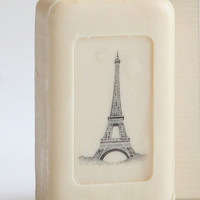 Eiffel Tower Soap (Image won't wash off!)