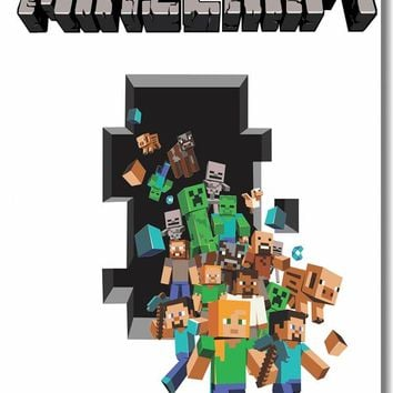Custom Canvas Wall Decor Minecraft Game Poster Minecraft Stickers 3D Wallpaper Minecraft Room Decoration Kid Bedroom Decal #0050