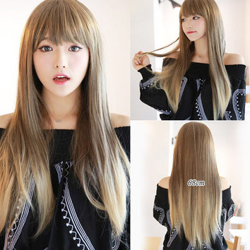 68cm Fashion Sexy Long Cosplay Bangs Wig Women Wigs Big Straight Hair Wig Girl Gift