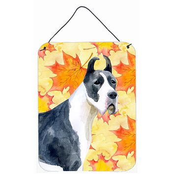 Harlequin Great Dane Fall Wall or Door Hanging Prints BB9904DS1216