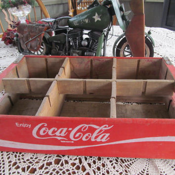 Graphic 1974 Coca Cola Wooden Crate Country Store Display Prop Coke Collectible Soda Crate Wooden Coke Crate General Store Display Prop