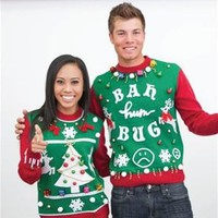 Unisex DIY Colorblock Ugly Christmas Sweater Kit SYP4-192002B