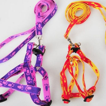 New Footprints pet chest straps dog leash Dogs pull chest straps = 1697285508