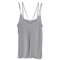 Cami NYC Aria Double Strap Tank in Grey | Les Pommettes
