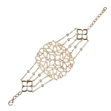 Cassandra Collection 22ct Rose Gold Vermeil Micro pave Filigree Bracelet