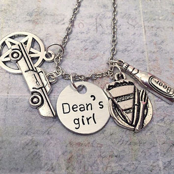 0dfaf3d3701b Dean s Girl Necklace - Dean Winchester Necklace - Supernatural Jewelry -  Team Free Wil