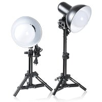 Emart 2 x 15W Table Top Photography Studio LED Lighting Kit with Light Stand Tripod