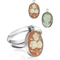 Mia & Beverly Designer Cameo Cameo Charm Ring