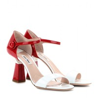 miu miu - patent-leather sandals