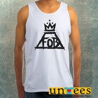 Fall Out Boy Crown Logo Clothing Tank Top For Mens