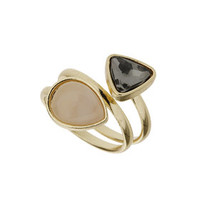 Twisted Two Stone Ring - Pink
