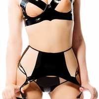 DAWN Latex Rubber Garter Belt