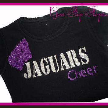 Cheer Bling Shirt School Cheerleading Spirit Wear Sparkle Girls Custom Design your own Colors Sports Team Name Birthday Personalized Glitter