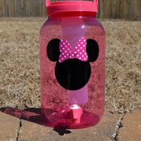 Pink Minnie Mouse Beverage Dispenser