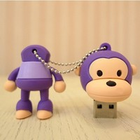 Baby Milo Monkey 4gb USB Flash Drive - Purple
