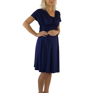 Navy Blue Maternity Dress