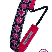 Sweaty Bands - Floral Frenzy - #1 Fitness Headband! (Pink)