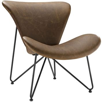 Glide Faux Leather Lounge Chair EEI-1807