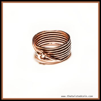 Handmade Copper Spiral Stack Ring