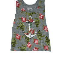 Floral Anchor Tee - Multi