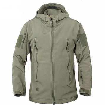 High Quality TAD Lurker Shark Skin Military Warm Windproof Tactical Softshell Jacket Men Mountaineering Army soft shell