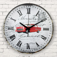 antique wall clock absolutely silent large decorative wall clock roman numerals vintage home decor watch wall gift wanduhr